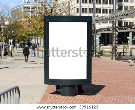 Billboard in the city - stock photo