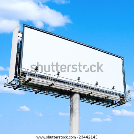 Billboard is a huge space - stock photo