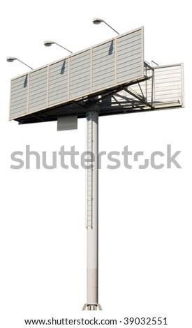billboard isolated - stock photo