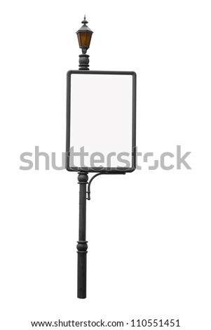 Billboard isolated on a white - stock photo
