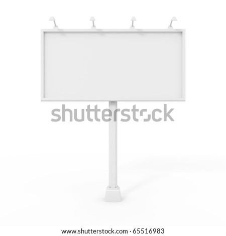 Billboard isolated on white - stock photo