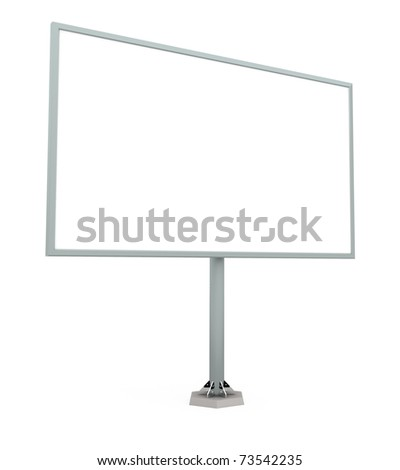 Billboard Isolated on White - 3d illustration