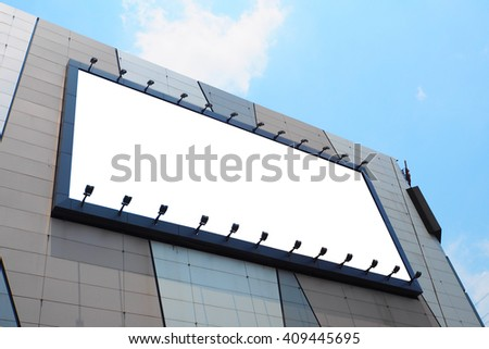 billboard on the aluminum composite wall