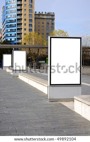 Billboard on the street - stock photo