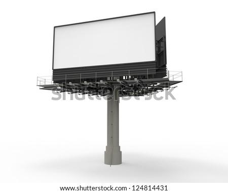 Billboard on White - stock photo