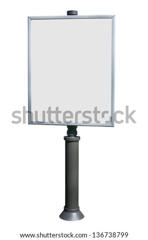 billboard on white background