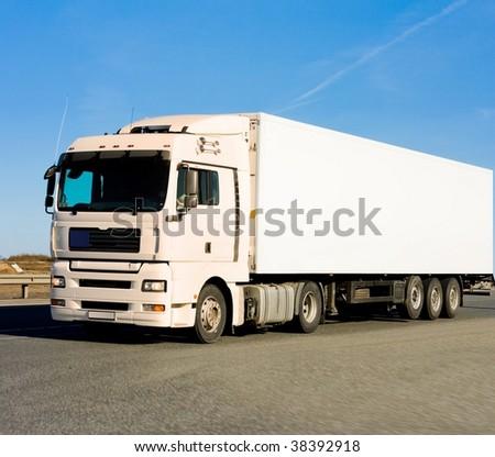 billboard ready truck - stock photo