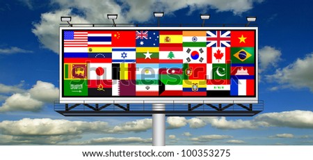 Billboard States of the World and Their Flags