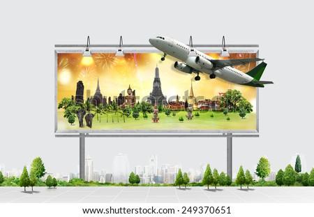 billboard, travel concept - stock photo
