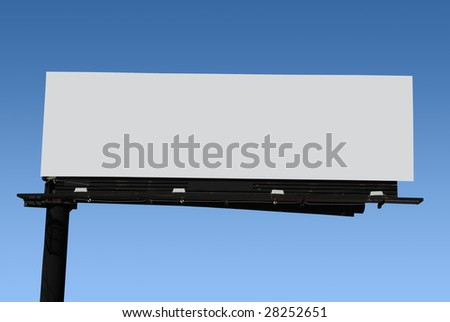 billboard with blank space for your own message