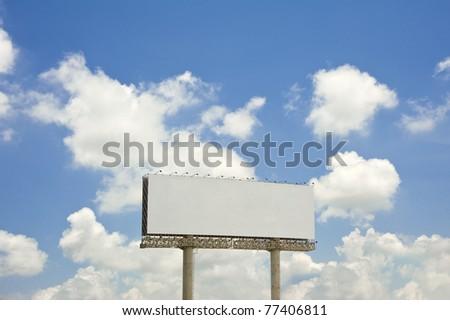 billboard with blue sky - stock photo