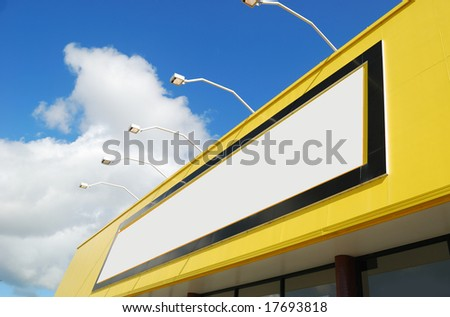 billboard with copy space - stock photo
