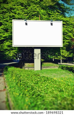 Billboard with empty screen, with toning effect