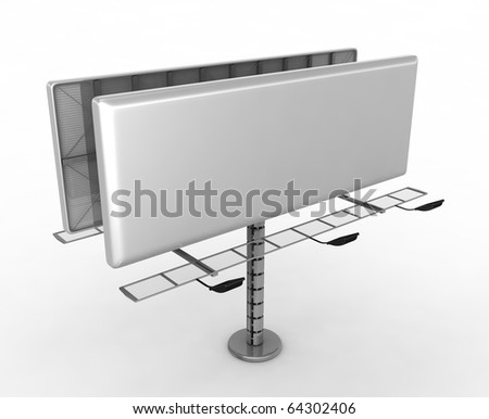 Billboard with place for your text - 3d render - stock photo