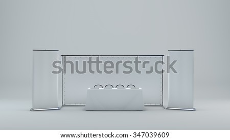 Billet press wall with a blank banner - stock photo