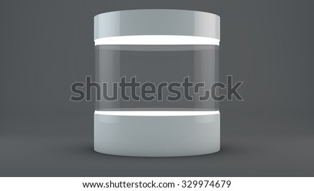 Billet round stand with backlight
