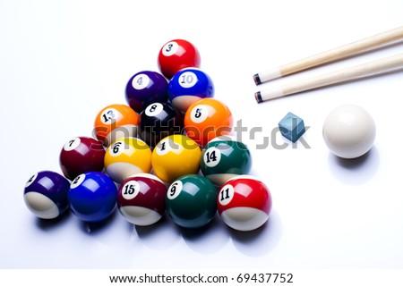 Billiard - stock photo