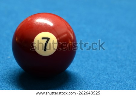 Billiard Ball number 7 isolated - stock photo