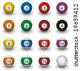 Billiard balls - stock