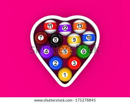 billiard balls - stock photo