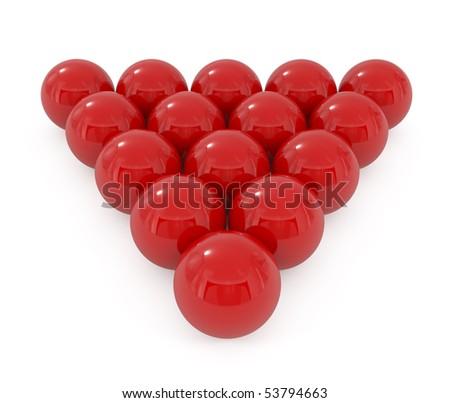 Billiard balls isolated on white - 3d illustration - stock photo