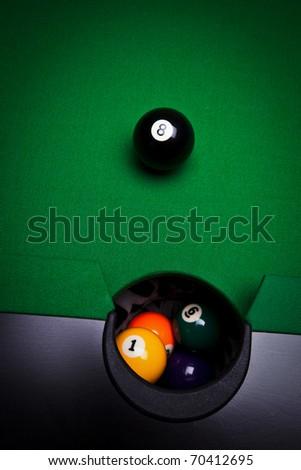 Billiard balls - pool - stock photo