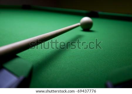 Billiard game - stock photo