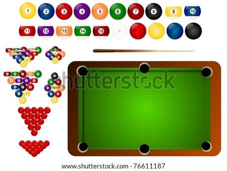 billiard pool - stock photo