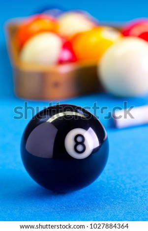 Billiard Pool Game Eight Ball Cue Stock Photo Edit Now - How to set up a pool table
