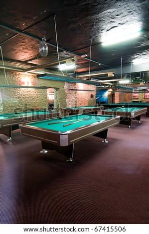 Billiard room - stock photo