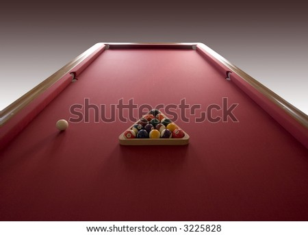 Billiard table - stock photo