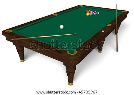 Billiard table - stock photo