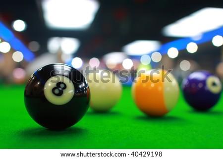 Billiards - stock photo