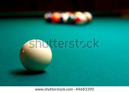 Billiards pool - stock photo