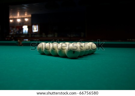Billiards Pyramid - stock photo