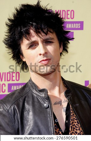 Billie Joe Armstrong at the 2012 MTV Video Music Awards held at the Staples Center in Los Angeles, United States on September 6, 2012. - stock photo