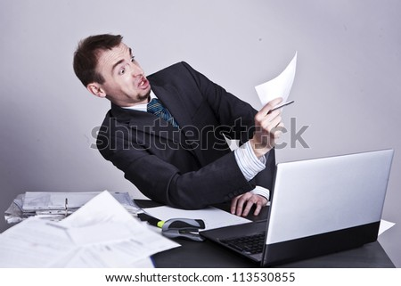 Bills are not paid - stock photo