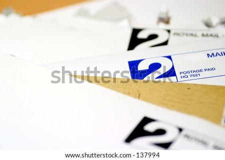Bills, bills, bills..... - stock photo