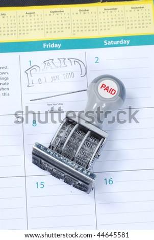 bills paid - stock photo