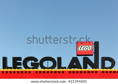 Billund, Denmark - May 14, 2016: Legoland Resort in Billund. Legoland Billund, the original Legoland park, opened on June 7, 1968 in Billund, Denmark