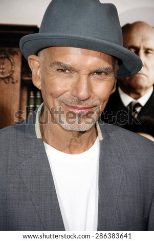 Billy Bob Thornton at the Los Angeles premiere of 'The Judge' held at the AMPAS Samuel Goldwyn Theater in Los Angeles on October 1, 2014. - stock photo
