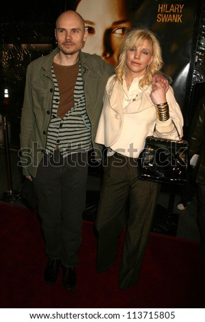"Billy Corgan and Courtney Love at the Los Angeles Premiere of ""Freedom Writers"". Mann Village Theatre, Westwood, CA. 01-04-07"