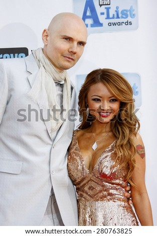 Billy Corgan and Tila Tequila at the 2009 Bravo's A-List Awards held at the Orpheum Theatre in Los Angeles on April 5, 2009.  - stock photo