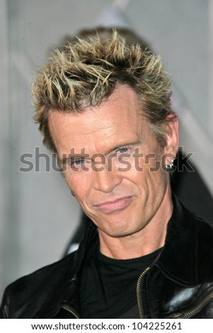 "Billy Idol at the ""Old Dogs"" World Premiere, El Capitan Theatre, Hollywood, CA. 11-09-09"