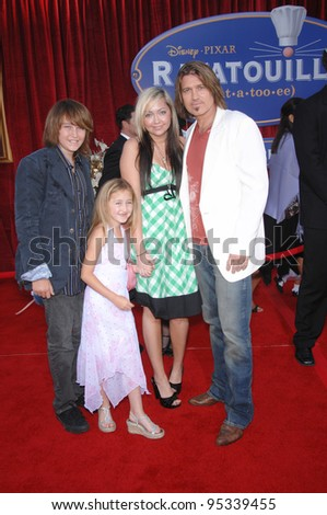 "Billy Ray Cyrus & family at the world premiere of ""Ratatouille"" at the Kodak Theatre, Hollywood. June 23, 2007  Los Angeles, CA Picture: Paul Smith / Featureflash"