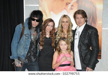 "Billy Ray Cyrus, Tish Cyrus and Family at ""The Last Song"" World Premiere. Arclight, Hollywood, CA. 03-25-10"