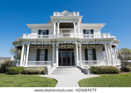 BILOXI, MISSISSIPPI - MARCH 22, 2016: A popular wedding venue, the Redding House is located in Biloxi,Mississippi.