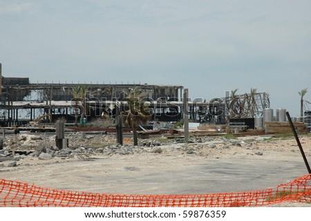 BILOXI, MS - APRIL 27: Destruction aftermath of hurricane Kartina 6 months later. April 27, 2006 Biloxi, MS. - stock photo
