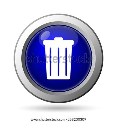 Bin icon. Internet button on white background.  - stock photo