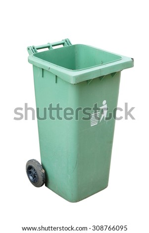 bin isolated over white background.